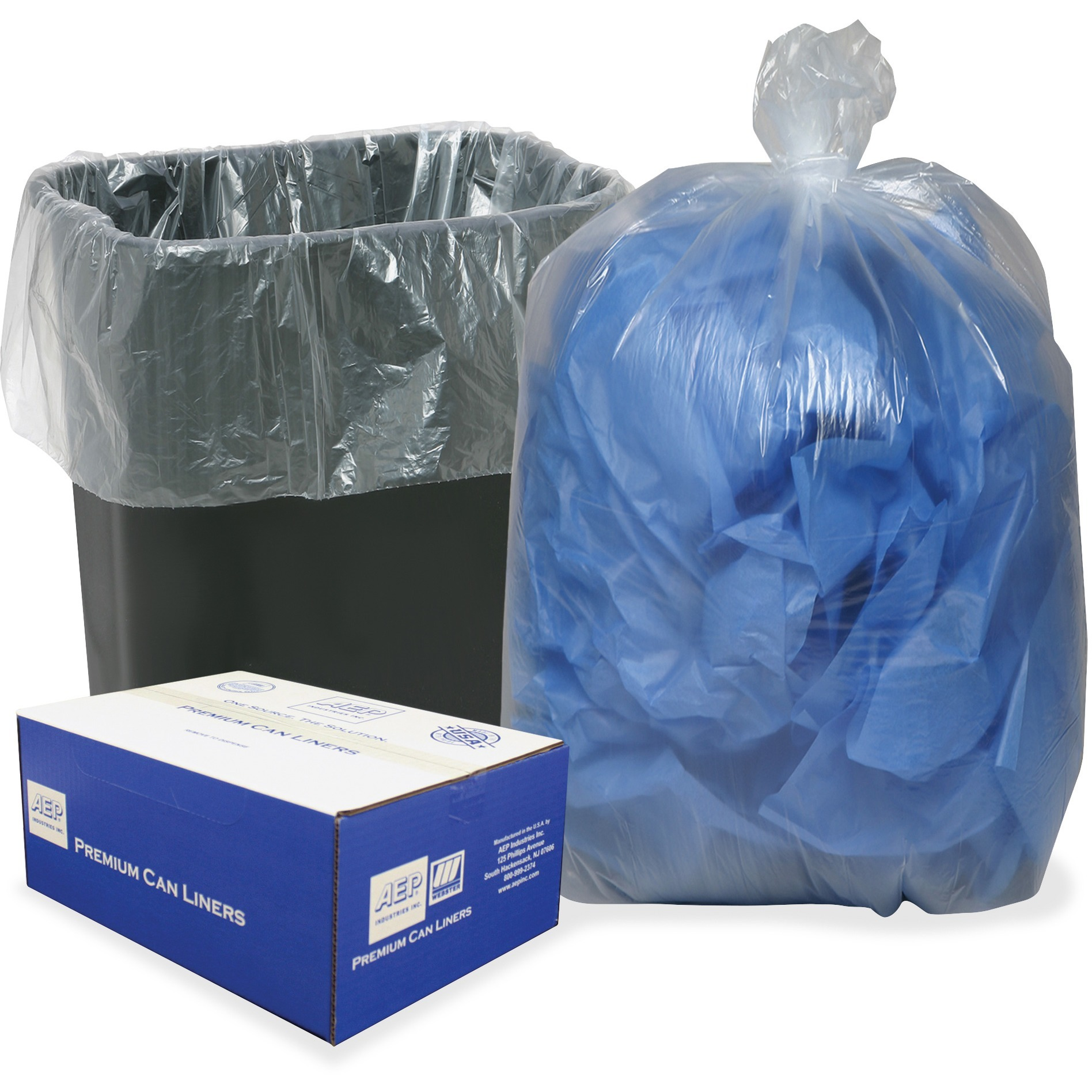 Clear Low-Density Can Liners, 16gal, .6mil, 24 x 33, Clear, 500/Carton