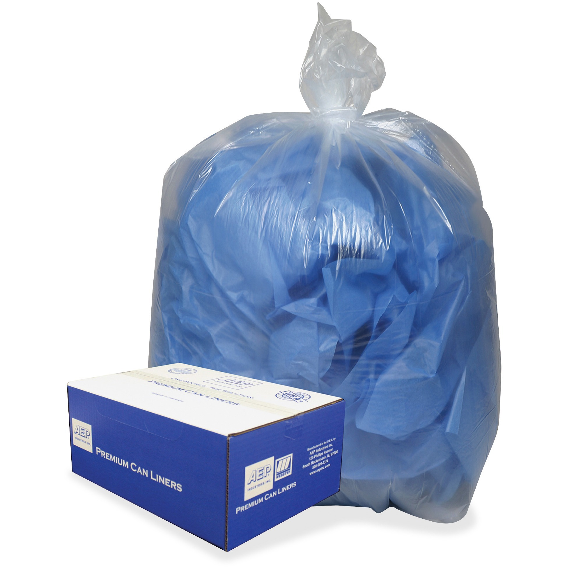 Clear Low-Density Can Liners, 31-33gal, .63 Mil, 33 x 39, Clear, 250/Carton