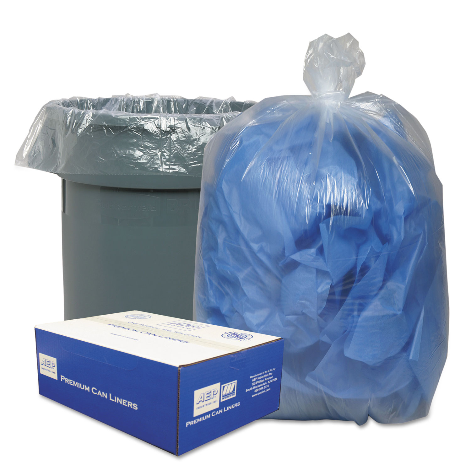 Clear Low-Density Can Liners, 40-45gal, .63 Mil, 40 x 46, Clear, 250/Carton