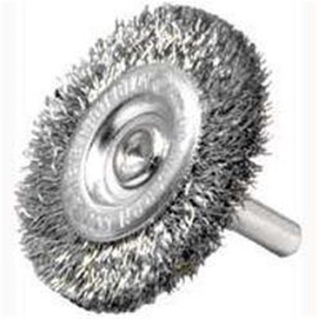 Weiler 36415 Crimped Wire Wheel Brush, 4 in Dia, Coarse