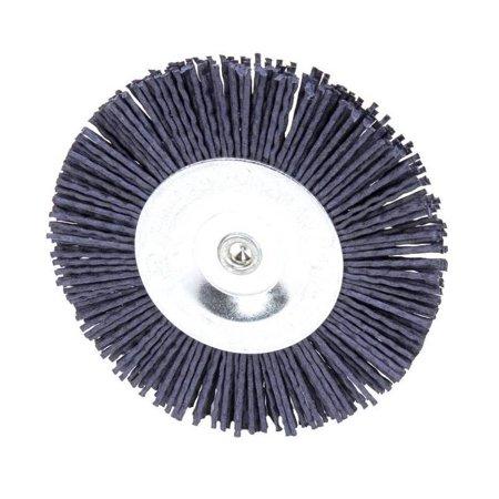 Weiler Vortec Pro 36435 Wire Wheel Brush, 4 in Dia, 0.04 in Wire, Abrasive Nylon, Medium/Fine
