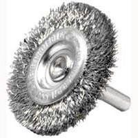 Weiler 36413 Coarse Grade Crimped Wire Wheel Brush, 3 in Dia