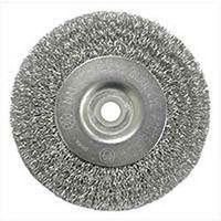 Weiler 36402 Coarse Grade Crimped Wire Wheel Brush, 4 in Dia x 1/2 - 3/8 in