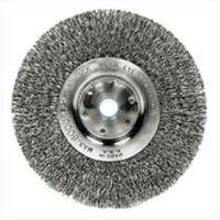 Weiler 36407 Fine Grade Crimped Wire Wheel Brush, 6 in Dia x 5/8 - 1/2 in