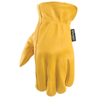 GLOVES DRIVER LEATHER YEL MED