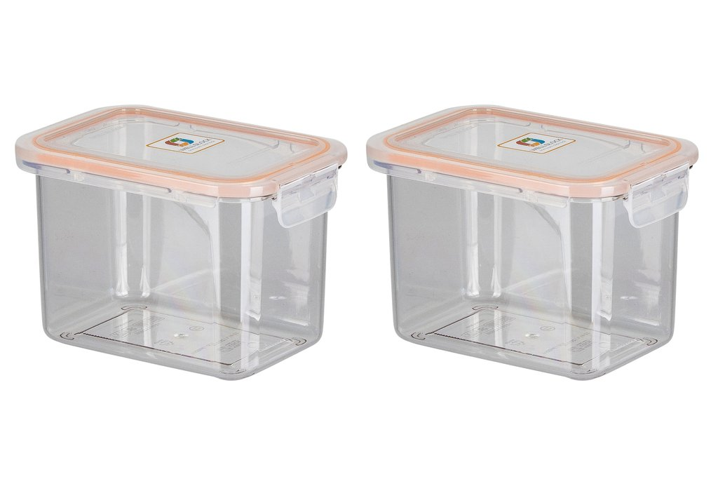 WELLSLOCK WR1100A2 CLEAR ONE LOCK 2 PACK FOOD CONTAINER