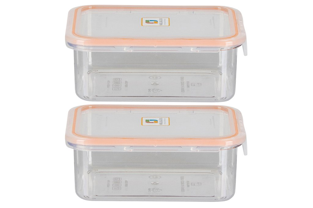 WELLSLOCK WR1230A2 CLEAR ONE LOCK 2 PACK  FOOD CONTAINER
