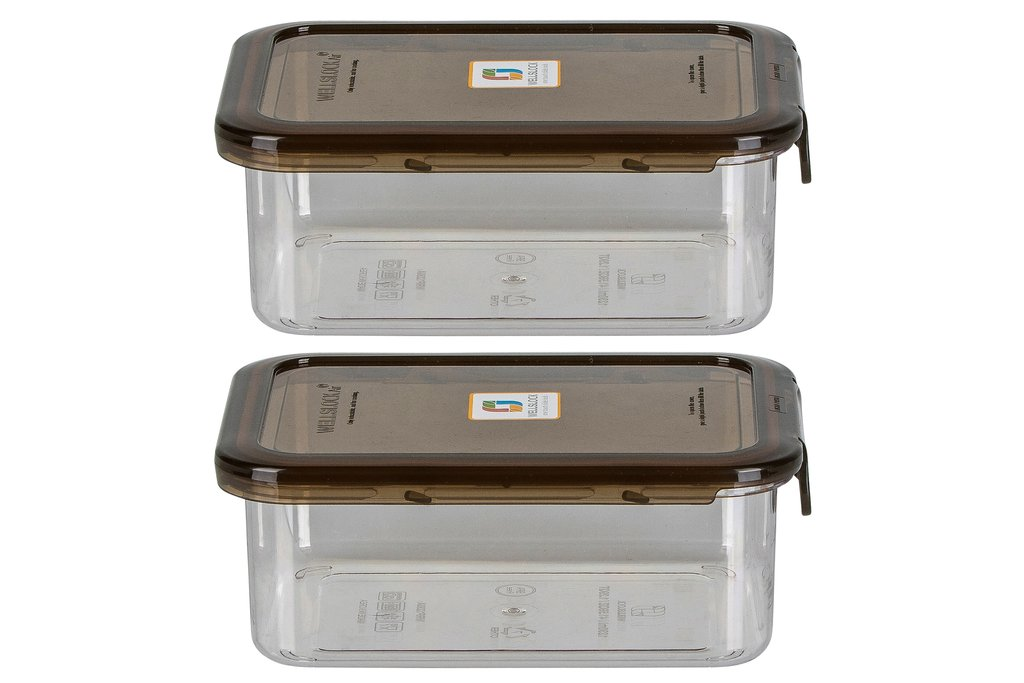 WELLSLOCK WR1230G2 SMOKE ONE LOCK 2 PACK  FOOD CONTAINER