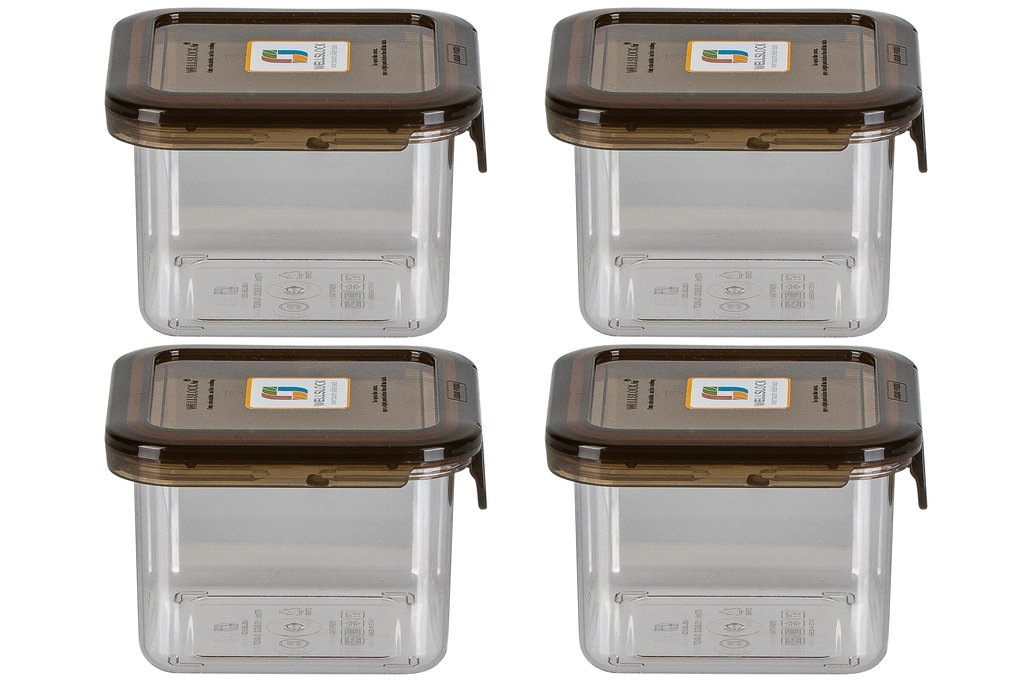 WELLSLOCK WS470G4 SMOKE ONE LOCK 4 PACK  FOOD CONTAINER