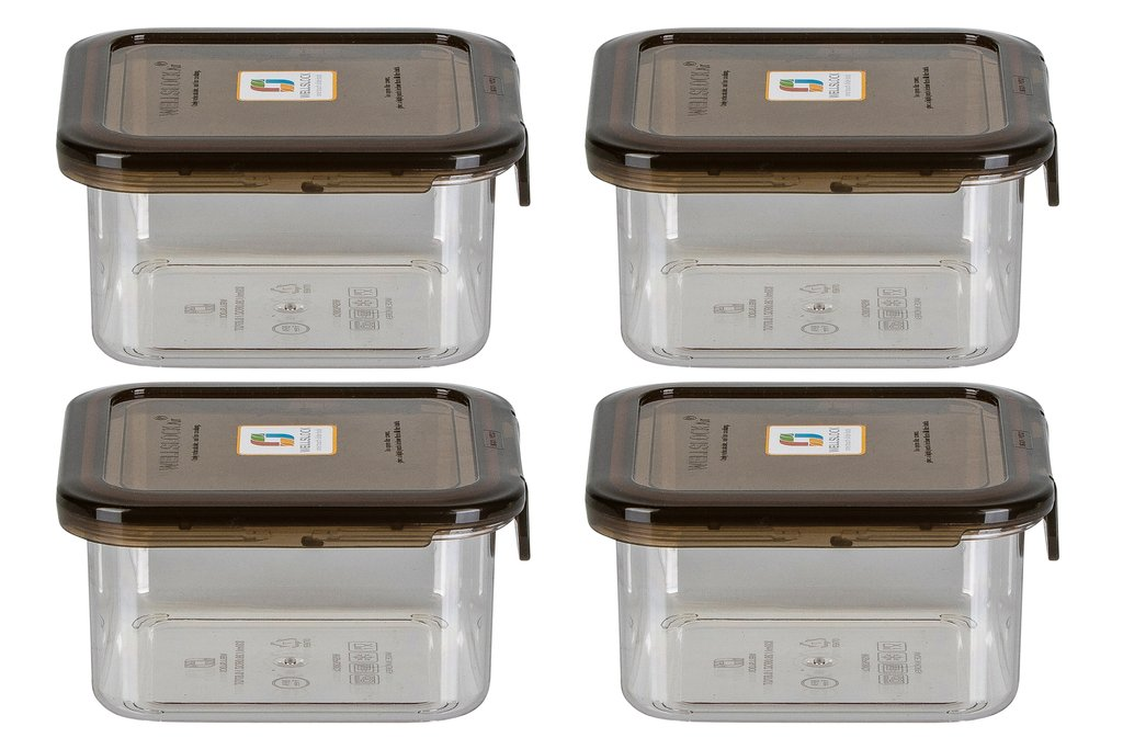 WELLSLOCK WS830G4 SMOKE ONE LOCK 4 PACK  FOOD CONTAINER