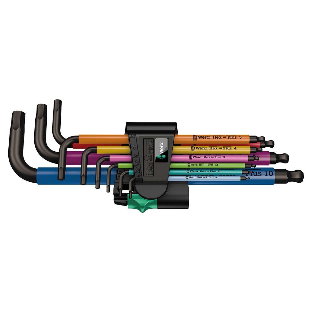 Wera Hex-Plus Color Coded Metric L-Key 9 Piece Set