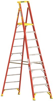 WERNER� TYPE IA ALUMINUM PODIUM LADDER, 10 FT.