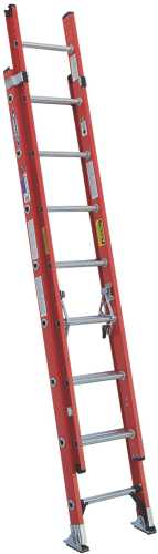 WERNER� TYPE IA FIBERGLASS D-RUNG EXTENSION LADDER, 16'