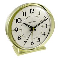 CLOCK ALARM QUARTZ GOLDTONE