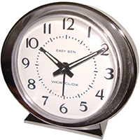 CLOCK ALARM QUARTZ SILVERTONE