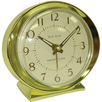 CLOCK ALARM QUARTZ GOLDTONE