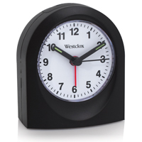 Westclox 47312 Arched Quartz Alarm Clock, Analog Display, Black