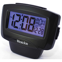 CLOCK ALARM 1IN LCD W/DAY-DATE