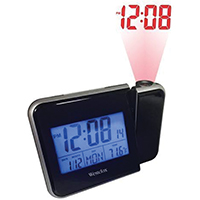 Westclox 72027 Projection Alarm Clock, Digital, LCD Display