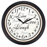Westclox 32032 Inspirational Wall Clock, Analog Display, Round, 12 in, Brown