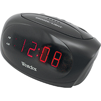Westclox 70044A Electric Alarm Clock, 0.6 in Digital, Red? LED Display, Black