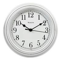 CLOCK WALL RND WHITE 8.5IN