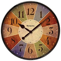 CLOCK WALL ROUND 12 INCH COLOR