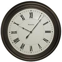 CLOCK WALL 16 IN OILRUB BRONZE