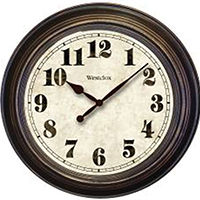 Westclox Classic Large Wall Clock, Round, 24 in, Brown
