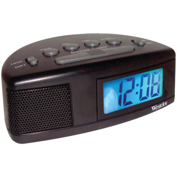 WESTCLOX 47547 Super Loud LCD Alarm Clock with Blue Backlight