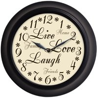 "WESTCLOX 32021 12"" Filigree Rubbed Bronze Finish Clock"