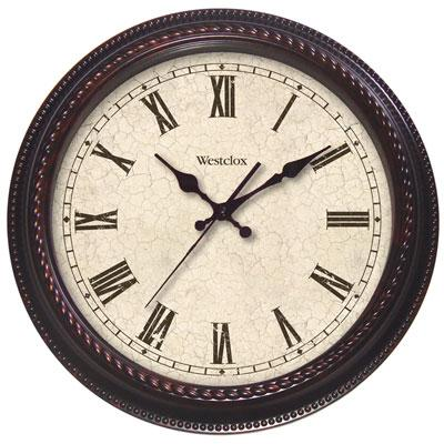 "WESTCLOX 32059 20"" Round Marbled Case Finish Clock"