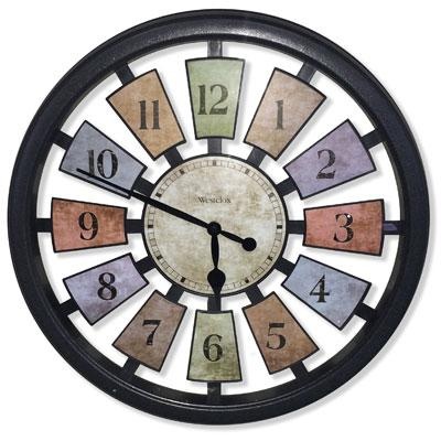 "WESTCLOX 36014 18"" Round Colored Panels See-Through Clock"
