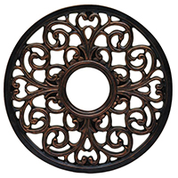 Westinghouse Lighting 7776400 Ceiling Medallions, Scroll Polyurethane, Ant Bronze