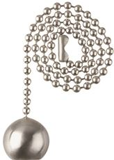 WESTINGHOUSE BEADED BALL PULL CHAIN, BRUSHED NICKEL, 12 IN.