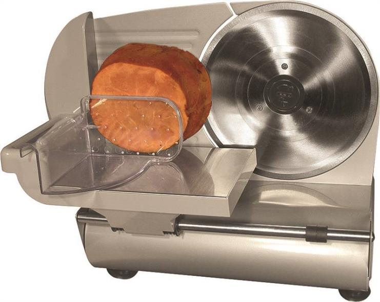 Weston 61-0901-W Electric Heavy Duty Food Slicer, Stainless Steel