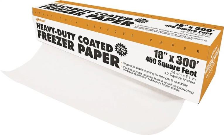 Weston 83-4001-W Heavy Duty Freezer Paper, 300 ft L x 18 in W