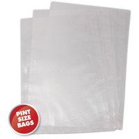 Weston 30-0106-W Vacuum Bag, 10 in L x 6 in W x 3 mil T, Plastic, Clear