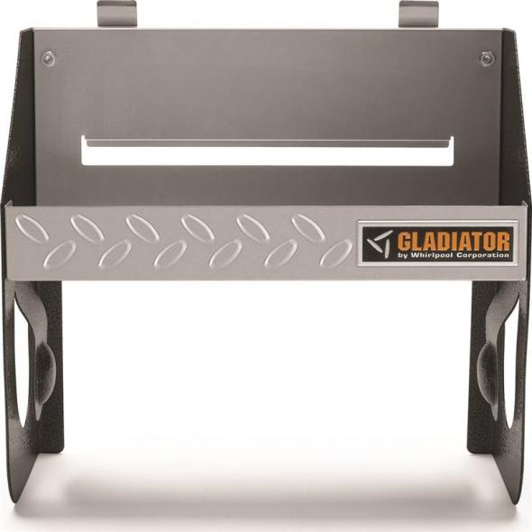 Gladiator GAWU12CCTG Clean-Up Caddy, 12-3/8 in L X 12 in W X 6 in D, 25 lb, Solid Metal, Gray