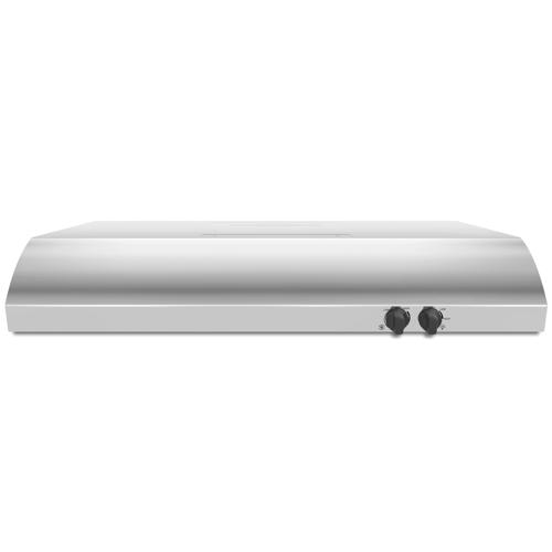 WHIRLPOOL� 30-INCH 2-SPEED CONVERTIBLE BUILT-IN RANGE HOOD WITH VENT, STAINLESS STEEL, 225 CFM, 120 VOLTS