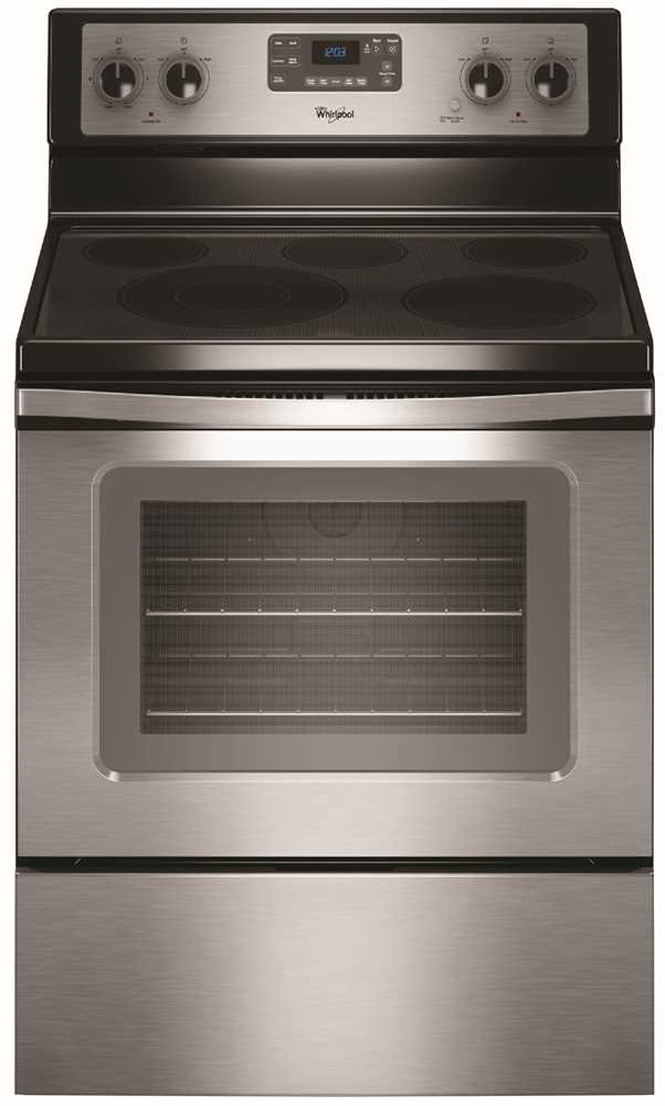 WHIRLPOOL� 30-INCH  ELECTRIC RANGE, 30 IN., 5.3 CU. FT., SMOOTH GLASS COOKTOP