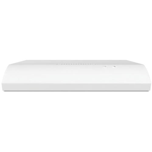 WHIRLPOOL� 30-INCH 2-SPEED BUILT-IN RANGE HOOD WITH VENT, WHITE, 190 CFM, 120 VOLTS