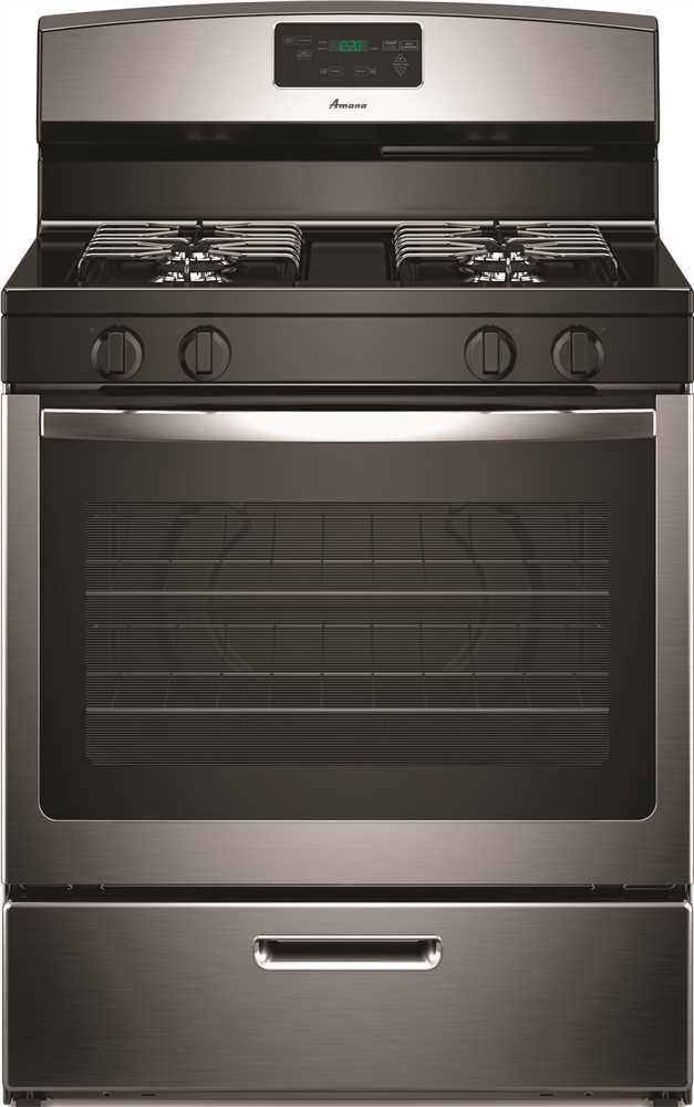 AMANA� 30-INCH 5.1 CU. FT. SINGLE OVEN FREE-STANDING GAS RANGE, STAINLESS