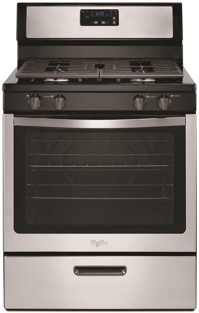 WHIRLPOOL� 30-INCH  5.1 CU. FT. SINGLE OVEN FREE-STANDING GAS RANGE, STAINLESS
