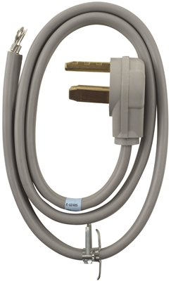 WHIRLPOOL� 3 WIRE DRYER CORD, 30 AMP, 4 FT.