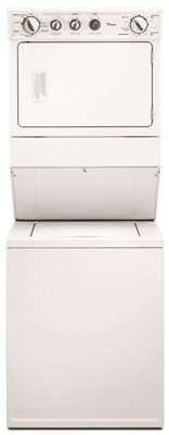 WHIRLPOOL� COMBINATION, ELECTRIC WASHER/DRYER, WHITE, 8 WASH CYCLES