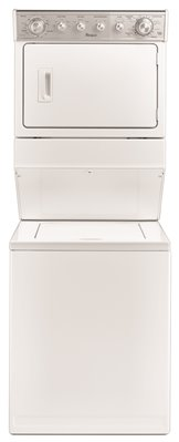 WHIRLPOOL� 27 IN. GAS WASHER / DRYER COMBO, WHITE