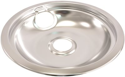 ELECTRIC RANGE DRIP PAN FITS WHIRLPOOL� RANGES, CHROME, 8 IN.
