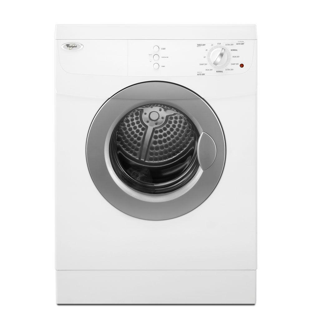 WHIRLPOOL� 3.8 CU. FT. FRONT LOAD ELECTRIC DRYER, WHITE, 7 DRYING CYCLES