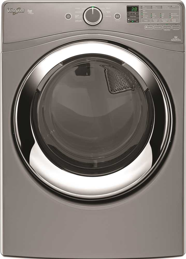 WHIRLPOOL� DUET� 7.3 CU. FT. FRONT LOAD GAS STEAM DRYER, CHROME SHADOW, 9 CYCLES